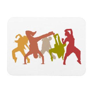 Bailarines coloridos de Hip Hop Iman Flexible
