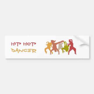 Bailarines coloridos de Hip Hop Pegatina Para Auto