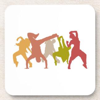 Bailarines coloridos de Hip Hop Posavasos
