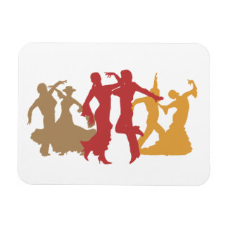 Bailarines coloridos del flamenco imán flexible