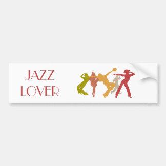 Bailarines coloridos del jazz pegatina para auto
