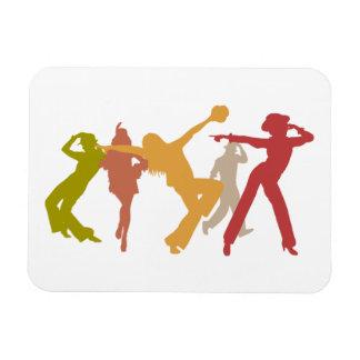 Bailarines coloridos del jazz imán de vinilo