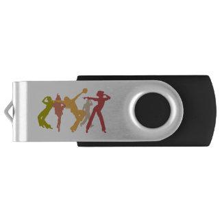Bailarines coloridos del jazz memoria USB
