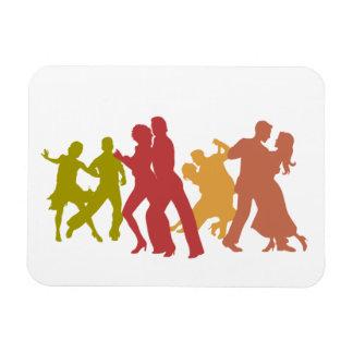 Bailarines coloridos del tango imanes de vinilo