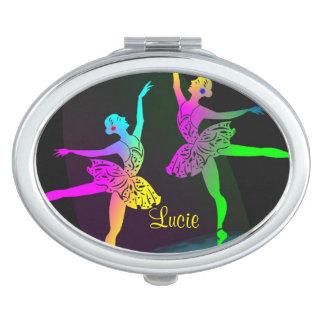 Bailarines de ballet bonitos del arco iris espejos de maquillaje