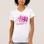 Bailarines de ballet camiseta