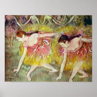Bailarines de ballet de Edgar Degas Poster
