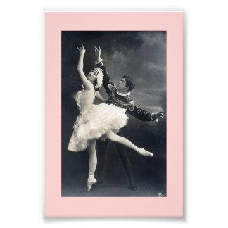 Bailarines de ballet del vintage cojinete