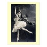 Bailarines de ballet del vintage tarjeta postal