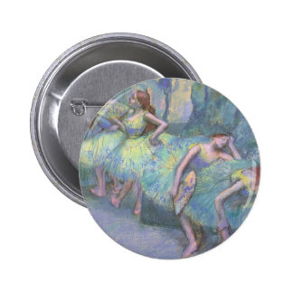 Bailarines de ballet en las alas de Edgar Degas Pin Redondo 5 Cm