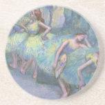 Bailarines de ballet en las alas de Edgar Degas Posavaso Para Bebida