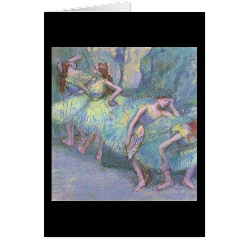 Bailarines de ballet en las alas felicitación