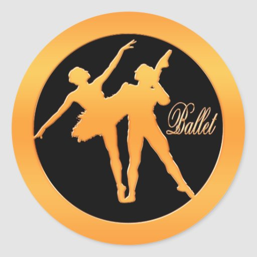 Bailarines de ballet pegatina redonda