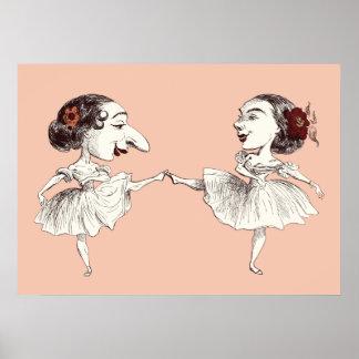 Bailarines de ballet póster