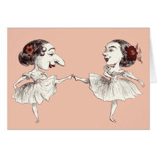 Bailarines de ballet tarjeta de felicitación