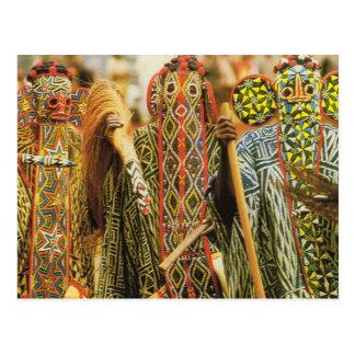 Bailarines de Banjouge, el Camerún Postales
