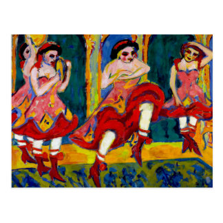 Bailarines de Czardas por Kirchner Postal