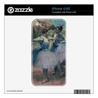 Bailarines de Edgar Degas el | en violeta Calcomanía Para El iPhone 4
