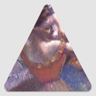 Bailarines de Edgar Degas Pegatina Triangular