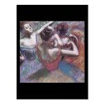 Bailarines de Edgar Degas Postal