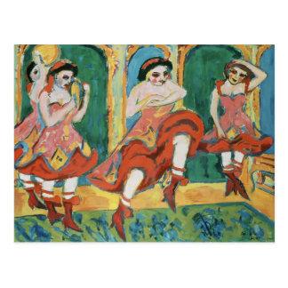 Bailarines de Ernst Luis Kirchner- Czardas Tarjetas Postales