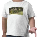 Bailarines de HawaiiHula en ColorHawaii Camiseta