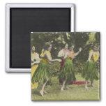 Bailarines de HawaiiHula en ColorHawaii Iman De Nevera