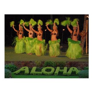 Bailarines de Hula Postal