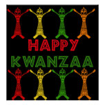 Bailarines de Kwanzaa Poster