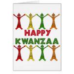 Bailarines de Kwanzaa Tarjeta