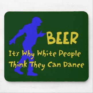 Bailarines de la cerveza alfombrilla de ratón