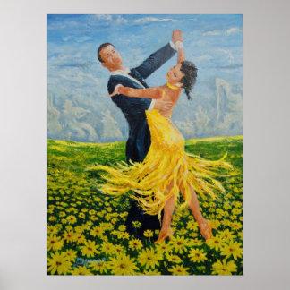 Bailarines de la margarita poster