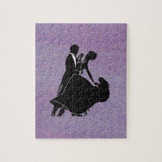 Bailarines de la silueta puzzles