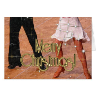Bailarines de las Felices Navidad PERSONALIZADOS Felicitaciones