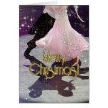 Bailarines de las Felices Navidad PERSONALIZADOS Tarjeta