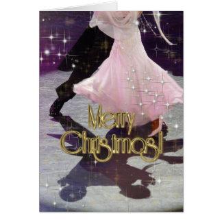Bailarines de las Felices Navidad PERSONALIZADOS Tarjeta De Felicitación