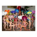 bailarines de los chicas de la demostración del Br Postales
