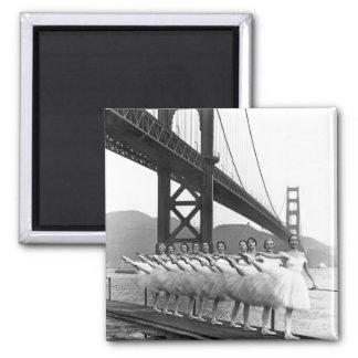 Bailarines de puente Golden Gate Iman Para Frigorífico