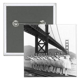 Bailarines de puente Golden Gate Pin Cuadrada 5 Cm