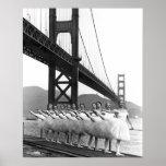 Bailarines de puente Golden Gate Posters