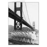Bailarines de puente Golden Gate Tarjeta De Felicitación