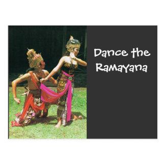Bailarines de Ramayana, bailarines tradicionales Postales