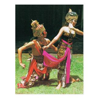 Bailarines de Ramayana, baile tradicional hindú, Tarjetas Postales