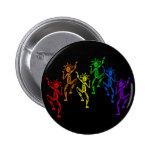 Bailarines del arco iris pin