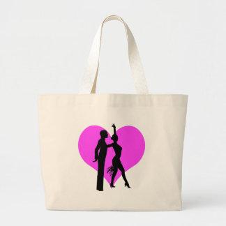 Bailarines del corazón bolsas de mano