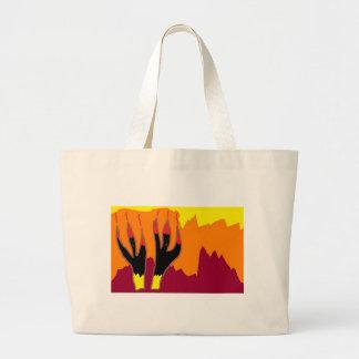 Bailarines del fuego en infierno bolsas