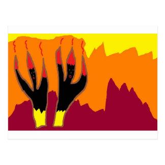 Bailarines del fuego en infierno tarjetas postales