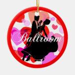 Bailarines del salón de baile ornamento para arbol de navidad
