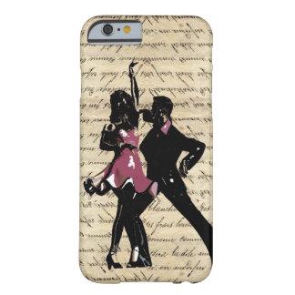 Bailarines del salón de baile en el papel del funda barely there iPhone 6