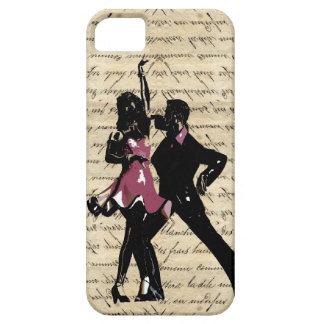 Bailarines del salón de baile en el papel del vint iPhone 5 Case-Mate carcasa